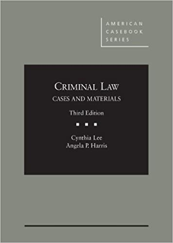 Amazoncom Criminal Law Cases And Materials American