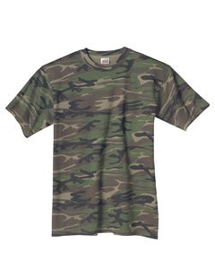 Anvil Camouflage T-Shirt (939) Camouflage Green - 2XL