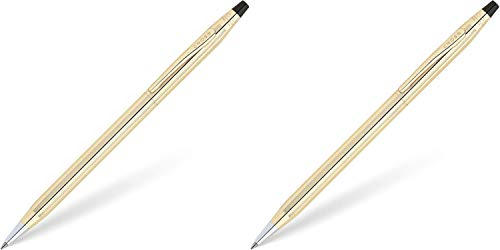 Cross Classic Century 10KT Gold-Filled (Rolled Gold) Ballpoint Pen 2 Pack