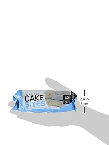 Optimum Nutrition Protein Cake Bites, Whipped Protein Snack Bar, Flavor: Birthday Cake, 12 Count