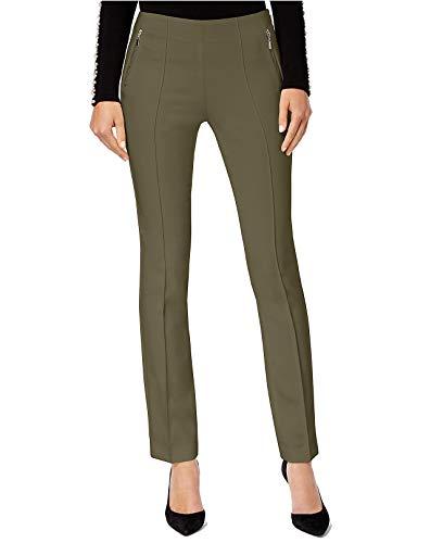INC Womens Straight Leg Curvy Fit Dress Pants Green 4