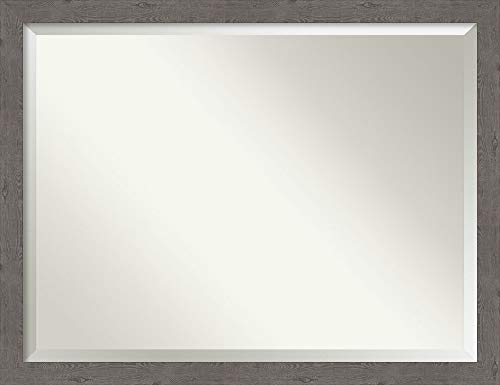 Amanti Art Framed Vanity Mirror | Bathroom Mirrors for Wall | Rustic -