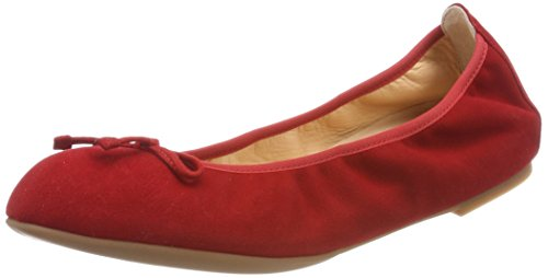 red ks Unisa Femme Ballerines 18 Acor Rouge EEnqSY
