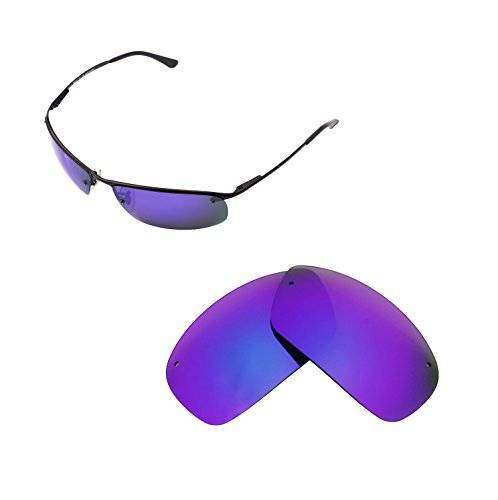 Walleva Replacement Lenses for Ray-Ban RB3183 63mm Sunglasses - Multiple Options Available (Purple Coated - - 3183 Ban Ray
