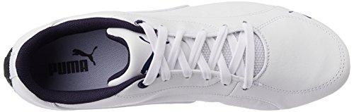 Puma Drift Cat 5 Leather - Zapatillas Unisex adulto Blanco - White (White/Blue Heaven)