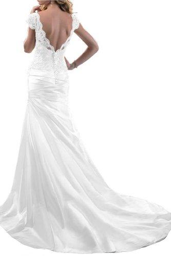 Angel Bride Hot Sale Dresses Fashion V Neck Mermaid Wedding Dresses Long- US Size 6