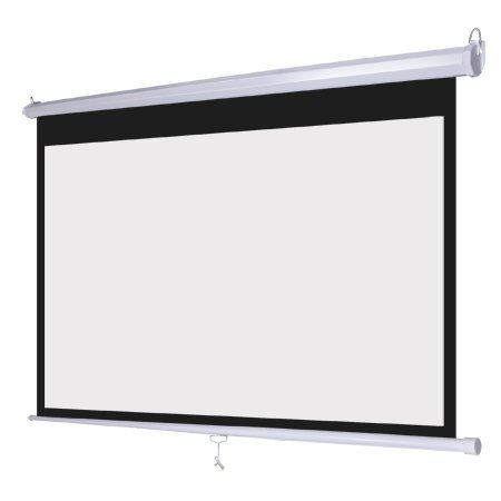 (Wall Mount Manual Pull Down Projector Screen 16:9 Aspect Ratio: Multiple Sizes Available (72