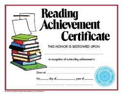 Certificates Achievement Set Of 30 (Achievement Certificate Reading)