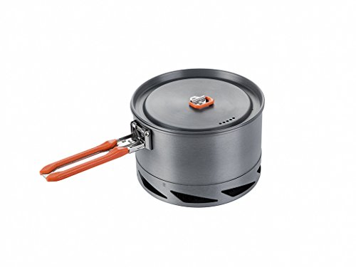 Vapor Kettle - Fire-Maple FMC-K2 Feast Series K2 Heat Exchanger Cookware Bright Color Foldable Handle 1.5L Outdoor Kettle Portable Camping Pot
