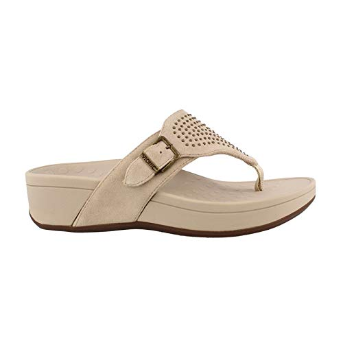 (Vionic Women's, Pacific Capitola Thong Sandal Taupe 6 M)