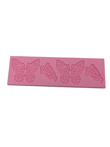 1 X Butterfly Shape Silicone Mold Lace Cake Molds Fondant Tools Cake Decorating Tools Silicone Chocolate Icing Border Sugar Mold