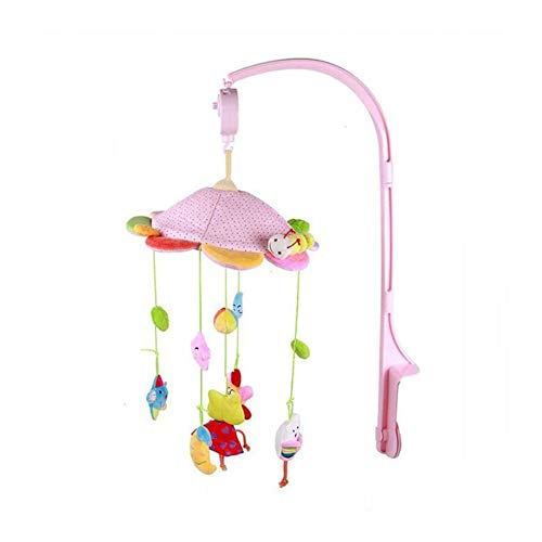 Baby Nursery Crib Mobile Bed Bell Musical Interactive Toys Infant Cot Bassinet Bed Bell Cartoon Soft Plush Hanging Ornament for Newborn ()