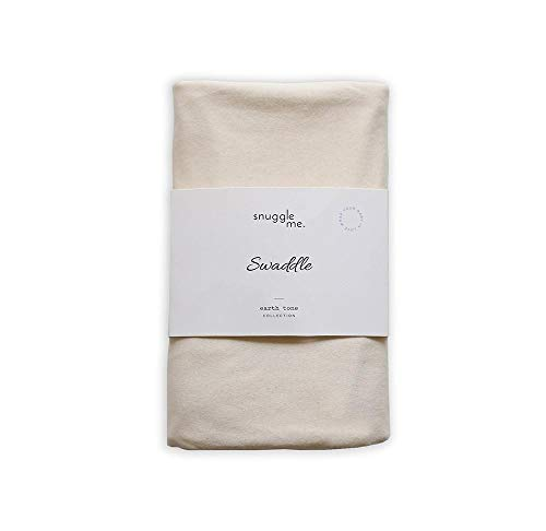 snuggle me Swaddle | Organic Cotton Swaddle Blanket, Soft Stretch, 47 x 47 inches (Natural) by snuggle me