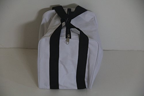 New Premium Quality - Extra Heavy Duty Nylon Bocce Bag - White with Black Handles by Epco