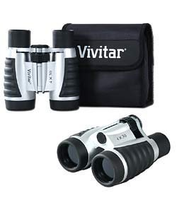 Vivitar 4 X 30 Compact Binoculars Set with Pouch & - Eyeglasses Featherweight
