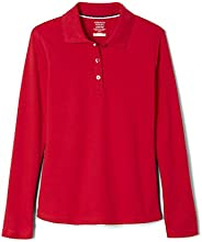French Toast Girls Uniform Long Sleeve Polo with Picot Collar (Standard & P