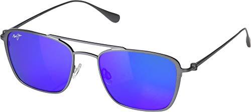 15886848cb5 Maui Jim Unisex Ebb & Flow Dove Grey/Blue Hawaii One Size