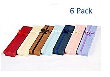 [P2P@zita Bracelet Watch Bow Tie Boxes Jewelry Gift Display Assorted Colors (6 Pcs)] (New Prima Chipboard)