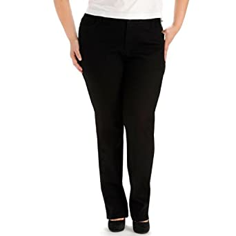 ac44a8b82d340 LEE Women s Plus-Size Instantly Slims Classic Relaxed Fit Monroe Straight  Leg Jean