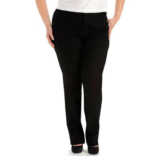 LEE Women's Plus-Size Classic Fit Monroe Straight-Leg Jean, Black, 28W Medium by LEE