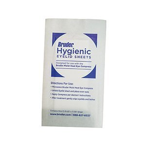 Bruder Hygienic Eyelid Sheets Micro Fine Individually Wrapped Untreated Sheets 35 Count Box