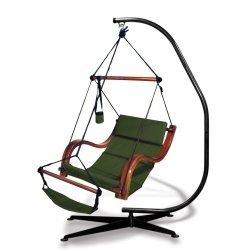 Hammaka Suelo Stand and Hunter Green Nami Chair Combo