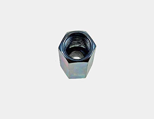 16 Pack 1/2-13 to 3/8-16 x 1 1/4'' Long Reducer Coupling Nut - Zinc Plate 509900