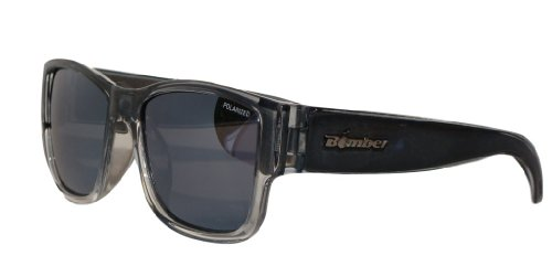 BOMBER GOMER-BOMBS 2-TONE SMOKE Frame SILVER MIRROR Lens 4 base 54mm Polarized Sunglasses