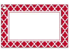 - 50ct. Red & White Tiles Border Blank Florist Enclosure Cards Small Tags