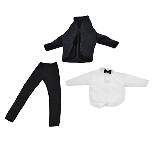 Towashine 1:6 Scale Black Suit Full Set Clothes with Bow Tie for 12 Inch Male Action Figure Accessories from Towashine