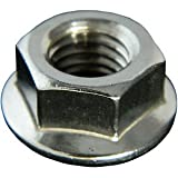 STAINLESS STEEL SERRATED FLANGE HEX LOCK NUTS 8-32 Qty 50