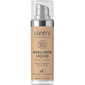 LAVERA Hyaluron Liquid Foundation Bases et Primers Honey Sand 03