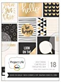 Project Life - Good As Gold 3 x 4 Project Life Cards