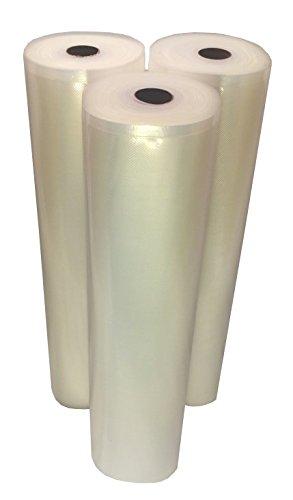 15''x50' Vac Fresh Roll 3.5mil Vacuum Seal Bags Embossed for Vacuum Sealers - 3 Rolls by Vac-Fresh Roll