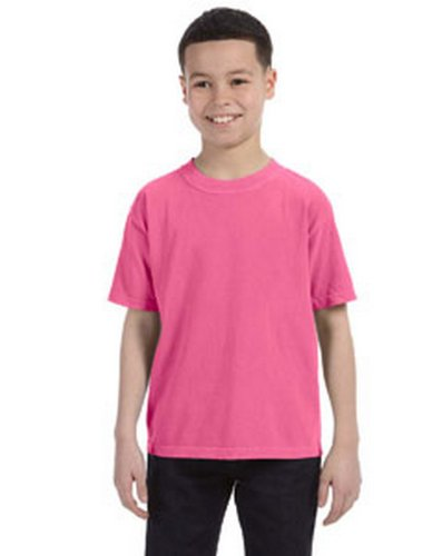 Comfort Colors C9018 Youth Ringspun Garment-Dyed T-Shirt - CRUNCHBERRY - XS Comfort Colors 100% Garment