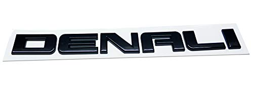 1x Glossy Denalihd Denali Hd Nameplate Replacement Emblems for Gm 07-16 Yukon Sierra Terrain Emzscar Chrome