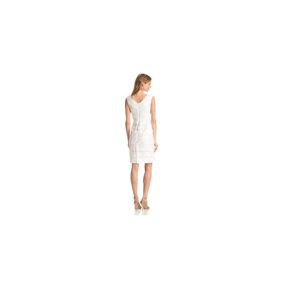 Adrianna Papell Womens Shimmer Shutter Dress
