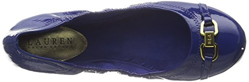 Women's Lauren Royal Leather Lauren Betsy Crinkle Ralph Ballet Flat Patent 41RnnwgEqx