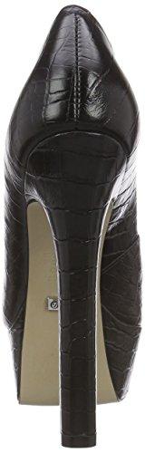 Buffalo London Zs 4757-14 Croco Cartejado - Zapatos Mujer Negro - negro (negro 01)
