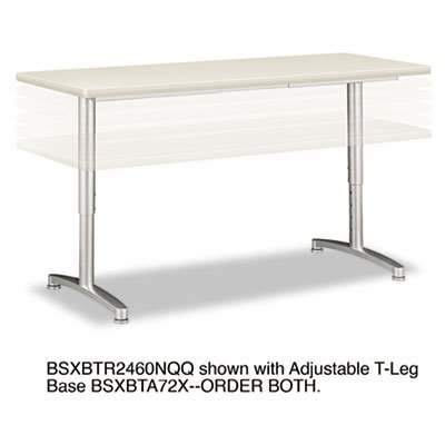 basyx Rectangular Training Table Top without Grommets ()