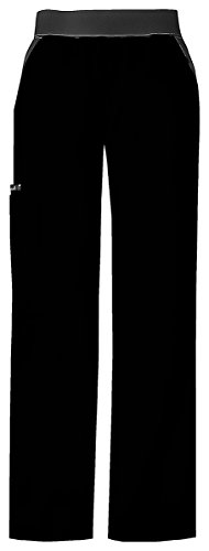 Cherokee Women's Moderate Knit Waist Pull-On Pant_Black_X-Large,1031