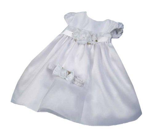 KID Collection Baby-Girls Flower Princess Dress 12M Med White (Kid B776) ()