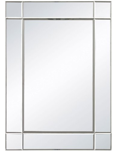 Sterling Silver Rectangular Mirror (Sterling 114-06 Blair Wall Mirror, 20-Inch, Clear)