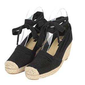 pescador Hill una con negrita con con zapatos solo chica superficial con luz Wild Negro blanca zapata de 38 Boca paja enlazado Oqwg8tx