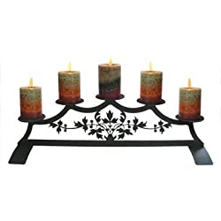 28 Inch Victorian Fireplace Pillar Candle Holder