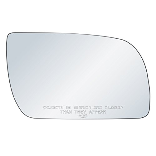 (exactafit 8711R Replacement Passenger Right Side Mirror Glass Powered Convex Lens fits Chevy GMC C K 1500 2500 3500 Yukon Tahoe by Rugged TUFF)