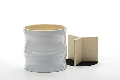 RSVP White Stoneware Oversized Tool Crock (Crock Utensil Stoneware Large)