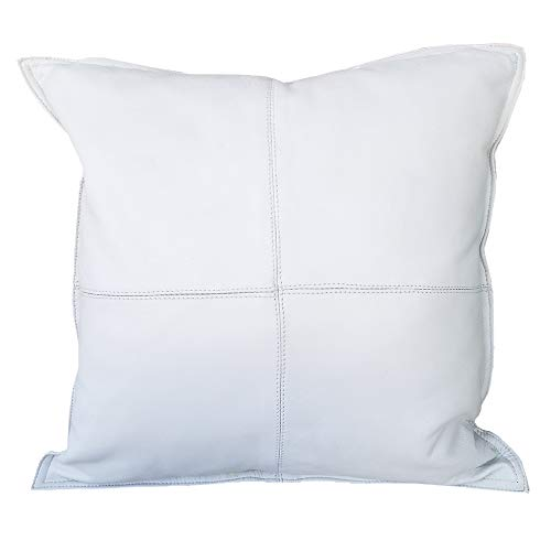 Buttery Soft Genuine Lambskin Leather Throw Pillow Cover - 16