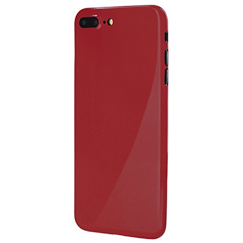 totallee iPhone 7 Plus Case, Thinnest Cover Premium Ultra Thin Light Slim Minimal Anti-Scratch Protective - for Apple iPhone 7 Plus Special Edition (Jet Red)