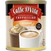Caffe D'Vita Caramel Instant Cappuccino, 16-Ounce Canisters (Pack of 6)